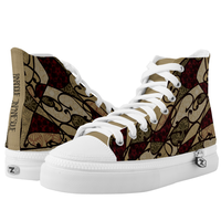 Japanesque Art Nouveau HIGH TOP SHOES
