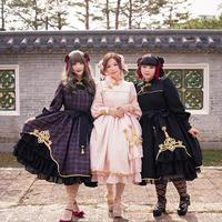 [Baroque] BāoBāoTou(包包頭)中華カラードレス 【ご予約商品、年末年始記念送料無料】