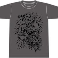 15th Anniversary Tシャツ(チャコールグレー)