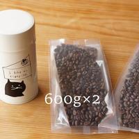 【1カ月¥5,000】【Cコース キャニスター缶付】コーヒー豆1200g定期便※コーヒー豆は1ヶ月毎に、キャニスター缶は3ヶ月毎にお届け