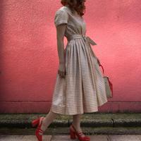 Vintage shiny pink dress