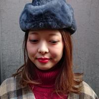 ヴィンテージ グレーフェイクファーの帽子