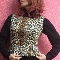 Tracy Diva レオパード ペプラム トップス
