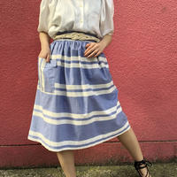Vintage blue stripe france skirt