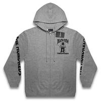 THE HUNDREDS x DEATHROW RECORDS -DEATH ROW ZIP-UP / ATHLETIC HEATHER-