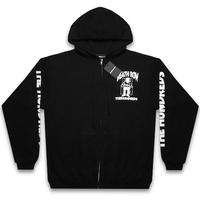THE HUNDREDS x DEATHROW RECORDS -DEATH ROW ZIP-UP / BLACK-