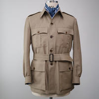 Safari Jacket/Beige Linen&Wool