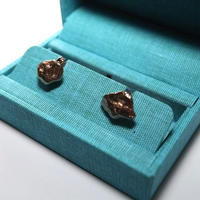 Codis Maya Cuff Links/Golden Nuggets Rose Gold