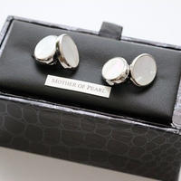 Taggs Cuff Links/Mother of Pearl