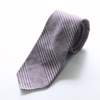 Glen Check Tie/Wine