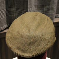 James Purdey Tweed Cap/Green Herringbone