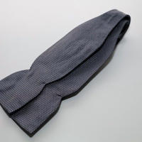 Bow Tie/Jacquard Silver Blue