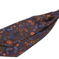 Adamley Ascot Tie/Brown Flower