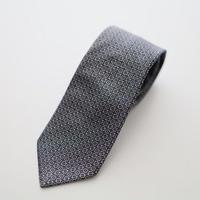 Jacquard Tie/Grey Pattern
