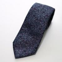 Jacquard Tie/Purple Flower
