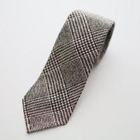 Glen Check Tie/Brown