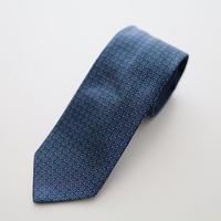 Jacquard Tie/Blue Pattern
