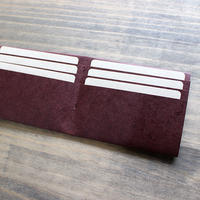 長財布用インナーカードケース ※両面12枚収納タイプ 【マルーン】