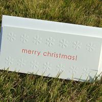 活版印刷のクリスマスカード【封筒セット】