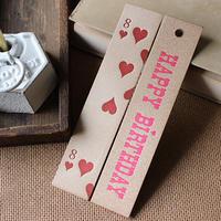 トランプ柄とHAPY BIRTHDAY(pink)のブックマーク (しおり)