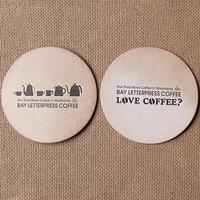 BAY LETTERPRESS COFFEEのコースター