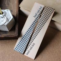 斜め千鳥格子のブックマーク(BLUE&BLACK) (しおり)