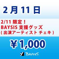 【2/11 限定】BAYSIS・アーティスト支援グッズ