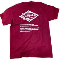 BAYSIS Tシャツ(マルーン)