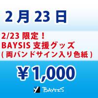 【2/23 限定】BAYSIS支援グッズ(サイン色紙)