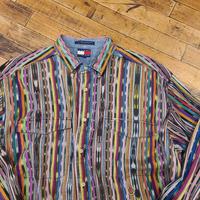 "1990's ""Tommy Hilfiger"" Buttondown Shirt SIZE : L"