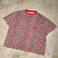 "1980's ""STUSSY"" Over All Patern Tee SIZE : M~L"