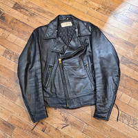 1970's Double Front Leather Jacket SIZE : L