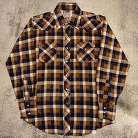 """1970's """"H Bar C Ranchwear"""" Flannel Western Shirt SIZE : L位"""