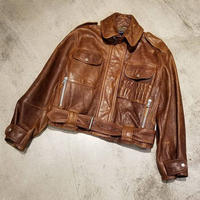 "1990's ""Polo Sport"" Hunting Leather Jacket Made in U.S.A SIZE : M"