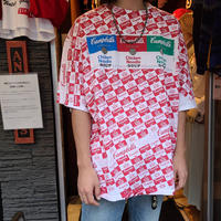 "1990's ""Campbell's Soup"" Over All Pattern Tee SIZE : XL"