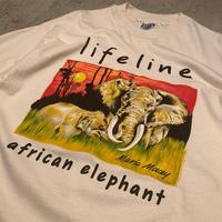 "1990's ""Life Line"" Short Sleeve Tee Dead Stock SIZE : XL"