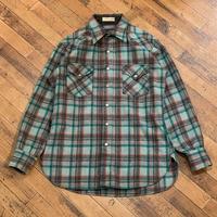 """1970's """"PENDLETON"""" Wool Western Shirt SIZE : M"""
