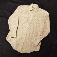 "1970's ""PAEDNERS"" Western Shirt Flower Pattern SIZE : M~L"