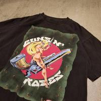 """1990's """"GUNS N' ROSES"""" Tour Tee CONART MEAR SIZE : XL"""