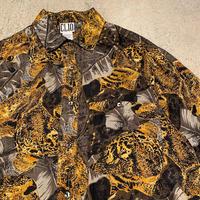 "1990's ""CLIO"" Short Sleeve Silk Shirt SIZE : L"