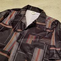 "1970's ""Stuart Mann Of California"" Polyester S/S Shirt SIZE : M,L"
