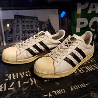 """~1980's """"adidas"""" Super Star Made in France SIZE : 8"""