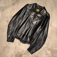 "1960's ""Just Leather San Jose"" Custom Made Leather Jacket SIZE : M"