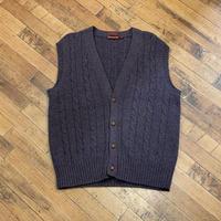 """1990's """"CHAPS RALPH LAUREN"""" Wool Knit Vest SIZE : XL"""