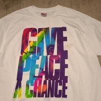 "1990's ""John Lennon"" Give Peace A Chance SIZE : XL"