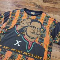 1990's Malcolm X S/S T-Shirt SIZE : L