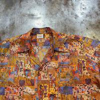 """1970's """" Sunshine """" Poly Hawaiian Shirt SIZE : L"""