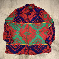 "~1990's ""Ralph Lauren Country"" Native Pattern Shirt SIZE : L"