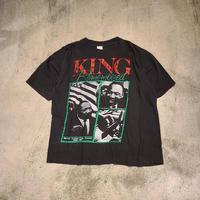 """1990's """"Martin Luther King Jr"""" Photo Tee SIZE : L"""
