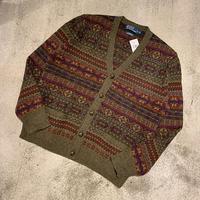 "1990's ""Ralph Lauren"" Wool Knit Cardigan Dead Stock SIZE : L"